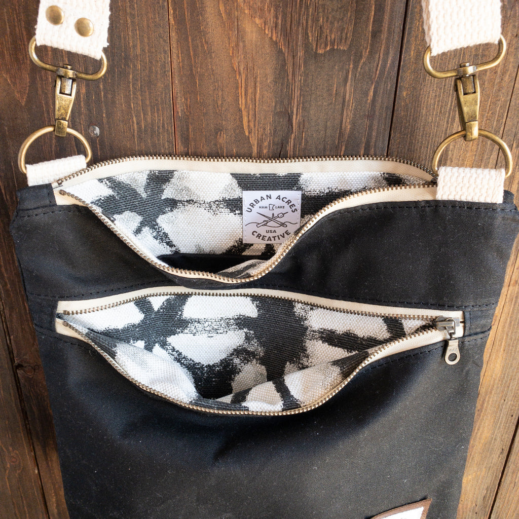 BRECKENRIDGE - Large Crossbody - Black + Shibori