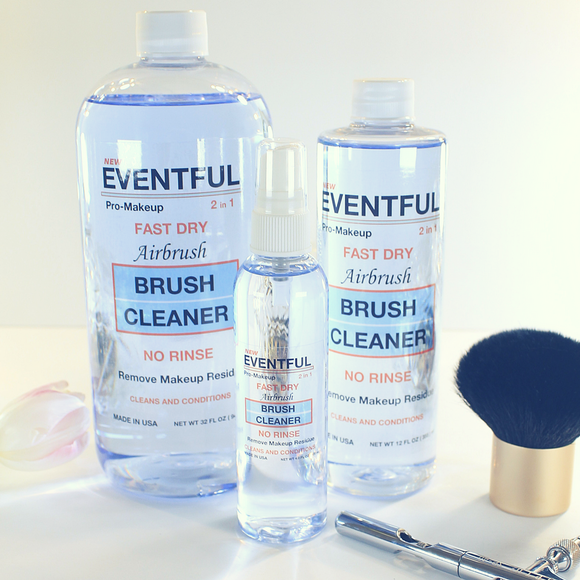NEW 2018 MAKEUP BRUSH CLEANER & AIRBRUSH CLEANER 2 IN 1 FAST DRY BY EVENTFUL