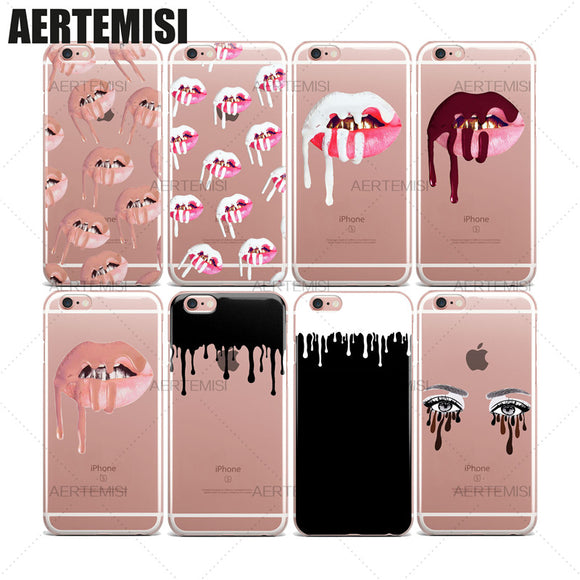 Phone Cases Lipstick Lips Kit Cosmetics Clear TPU Case Cover for iPhone 5 5s SE 6 6s 7 Plus - Firex, home decor, iphone case, amazon , ebay , mercado libre, free shipping, woman accesories, living decor, pets, harness, led light iphone