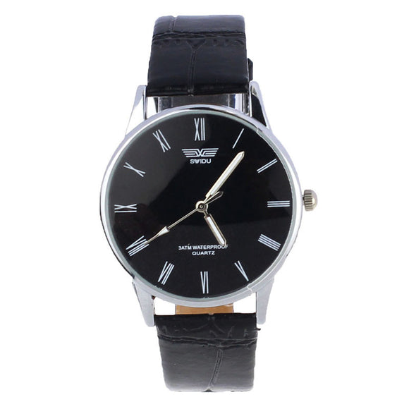 Luxury brand quartz watch Casual Fashion Leather watches men watch Business Sports