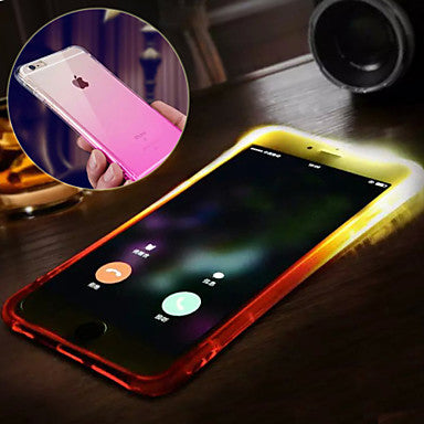 For iPhone X iPhone 8 iPhone 8 Plus iPhone 6 iPhone 6 Plus Case Cover Water Resistant LED Flash Lighting Back Cover Case Color Gradient FREE EXPEDITED SHIPPING