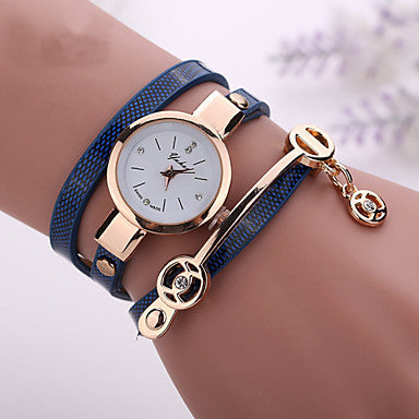 Leather Strap Watch Casual Bracelet