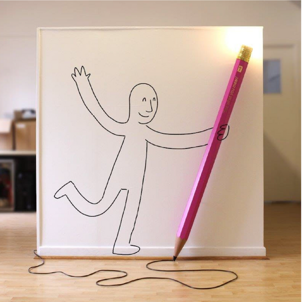 Customised Giant Pencil Lamp