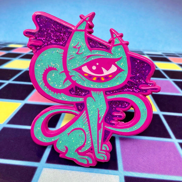 Armageddon Beachparty Gidget's Modern Life Augmented Reality Pin (Fuchsia)
