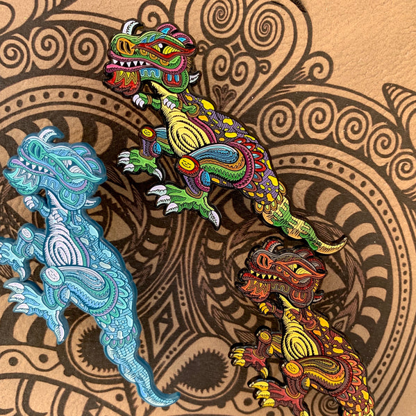 Chris Dyer x Positivasaurus Pin SET