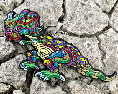 Chris Dyer x Positivasaurus Augmented Reality Pin