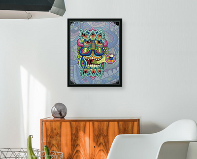 Black Box King Augmented Reality Art Print - Chris Dyer
