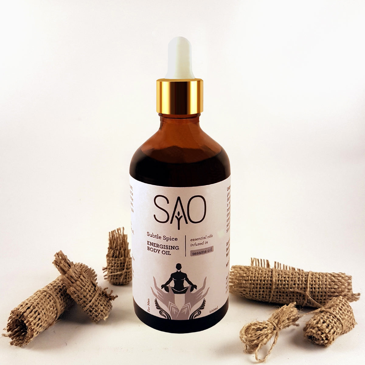 ENERGISING BODY OIL For Men Essential Oils with Sesame