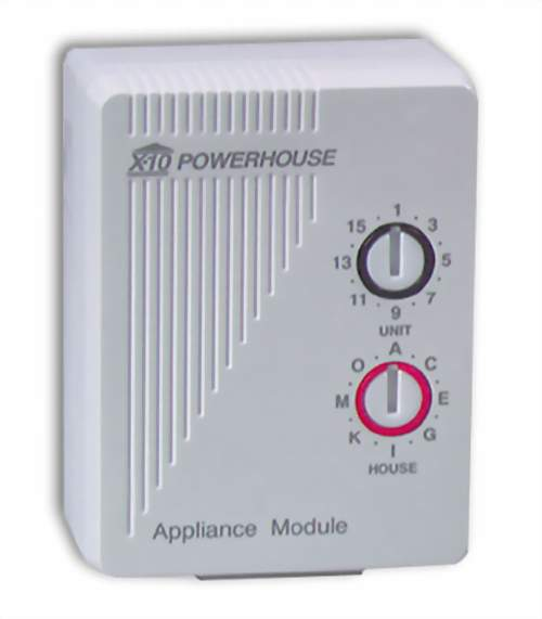 X10 Powerhouse AM486 15 Amp 2-Pin Appliance Module w/Local Control