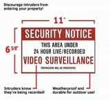 X10 MM023 Video Surveillance Warning Sign dimensions