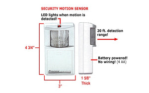 X10 Security Alarm System Motion Sensor MS10A Pre MS18A