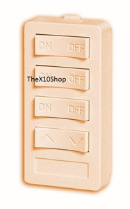 X10 PRO XP4D-I Ivory Keypad 3 Units ON OFF with DIM BRIGHT