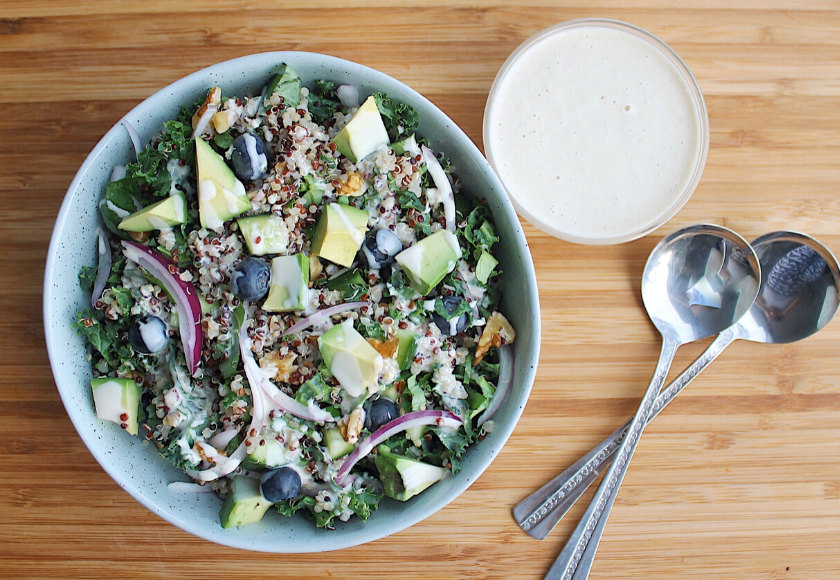 Creamy Probiotic Quinoa Kale Salad feature image
