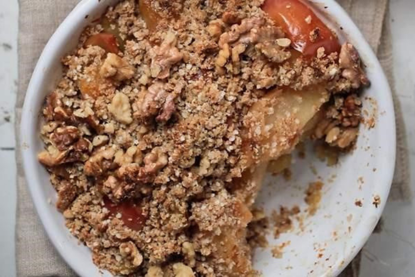 The Healthy Chef Apple Crumble feature image