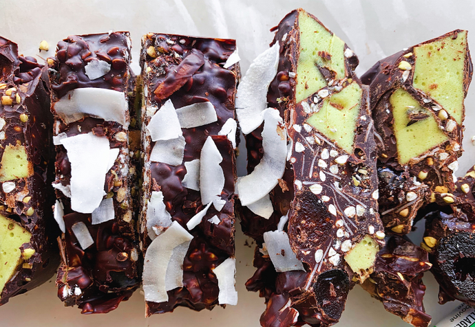 Healthy Mint Collagen Rocky Road