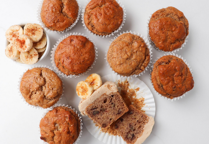 Recipe: Banana, Walnut & Flaxseed Muffins