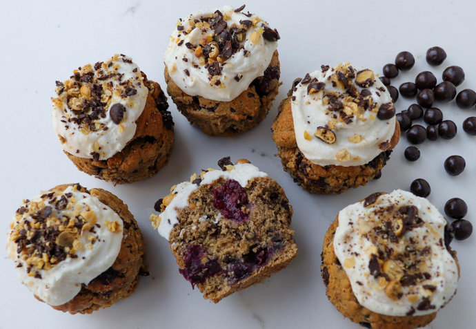 Recipe: Choc Blueberry & Banana Muffins