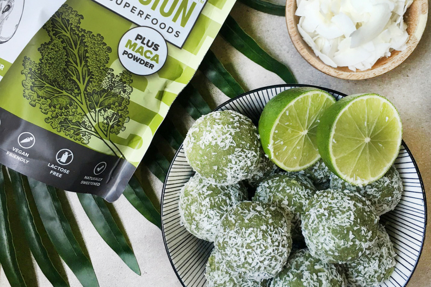 Tropical Lime 'Vegan' Bliss Balls feature image
