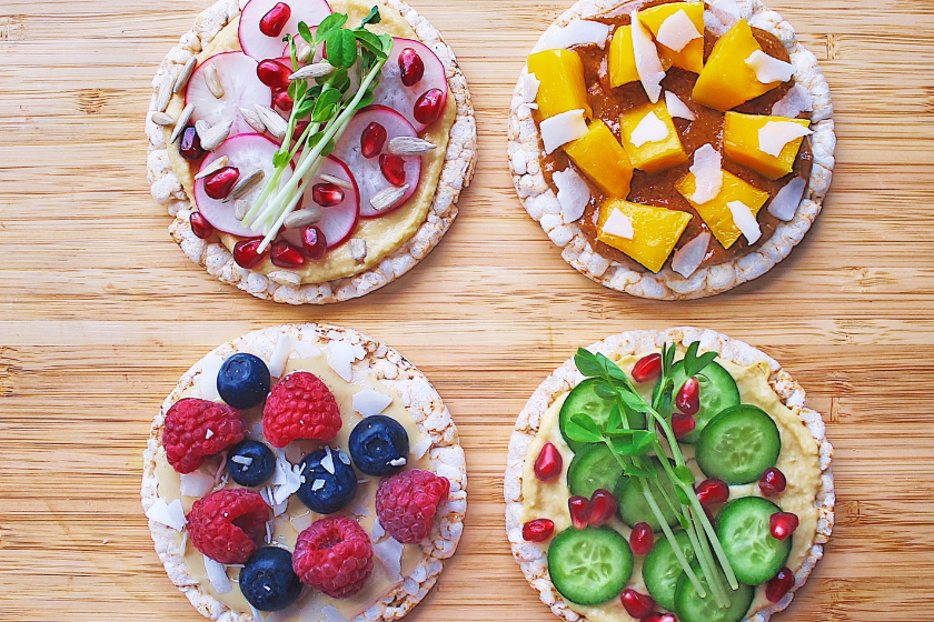 Healthy Rice Cracker Toppings feature image