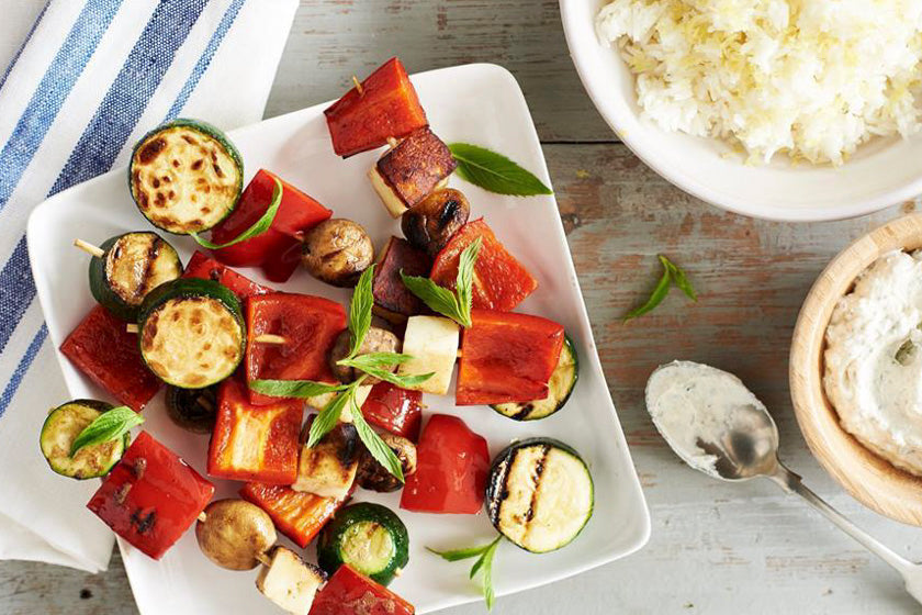 Vegetable and Haloumi Kebabs feature image