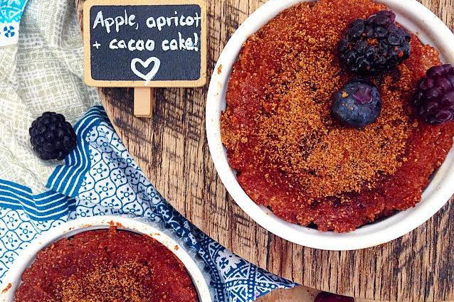 Apple Apricot and Cacao Cakes feature image