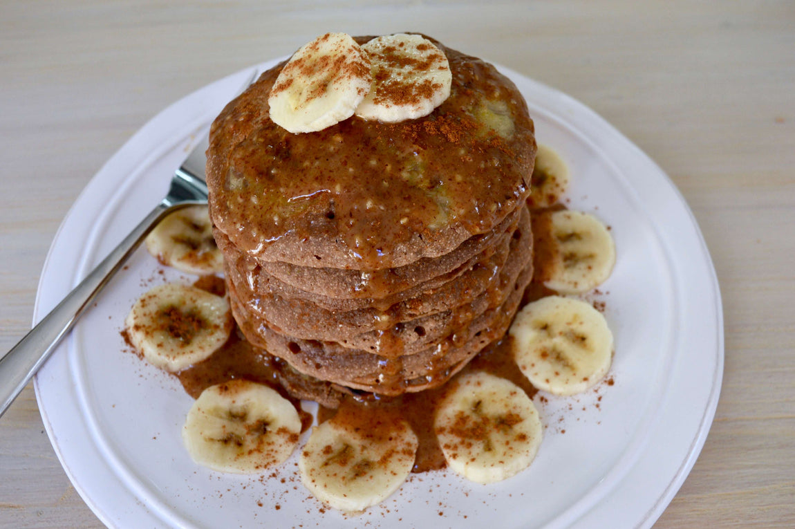 Banana & Cinnamon Vegan Pancakes feature image
