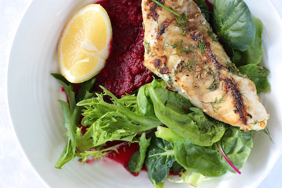 The Fit Foodies Fennel Salted Snapper With Beetroot Puree feature image