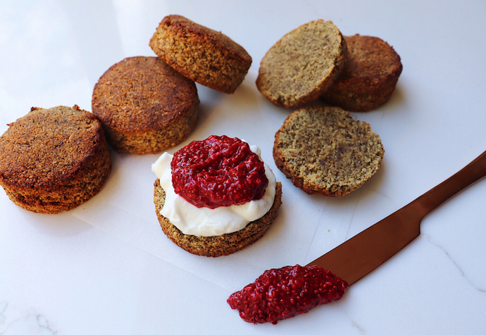 Recipe: Gluten-Free Hemp Scones With Raspberry Chia Jam