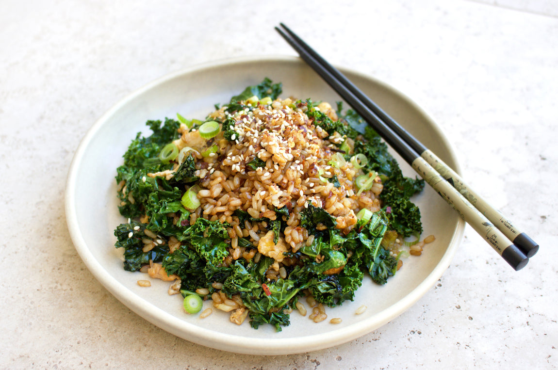 Healthy Fried Rice with Kale, Garlic & Chilli feature image