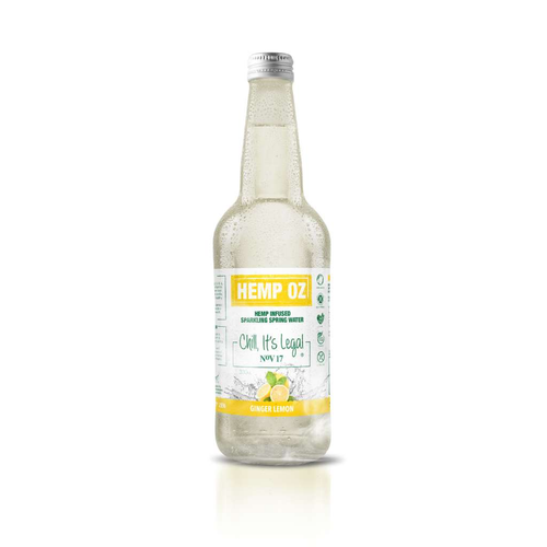 Hemp Oz	Hemp Infused Sparkling Spring Water - GoodnessMe