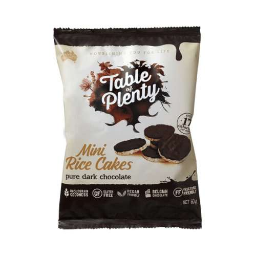 Table of Plenty Mini Rice Cakes Dark Chocolate 5x 60g - GoodnessMe