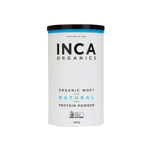 Inca Organics Certified Organic Whey Natural Protein Powder 400g - GoodnessMe