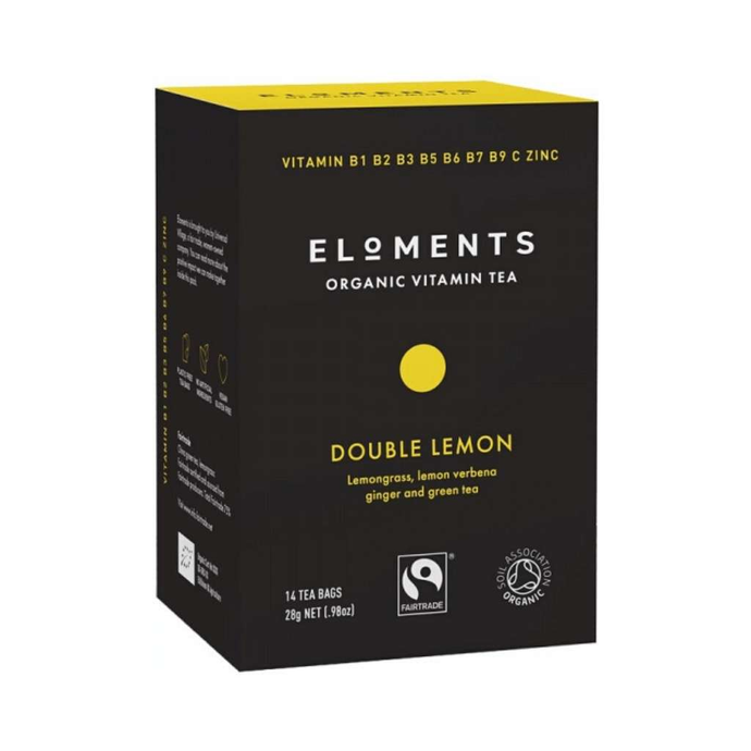 Eloments Organic Vitamin Tea Double Lemon 14 tea bags - GoodnessMe