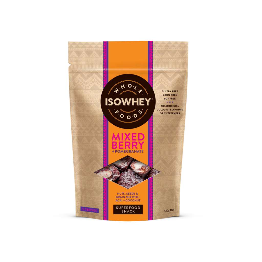 IsoWhey Wholefoods - Superfood Snacks Mixed Berry + Pomegranate 125g