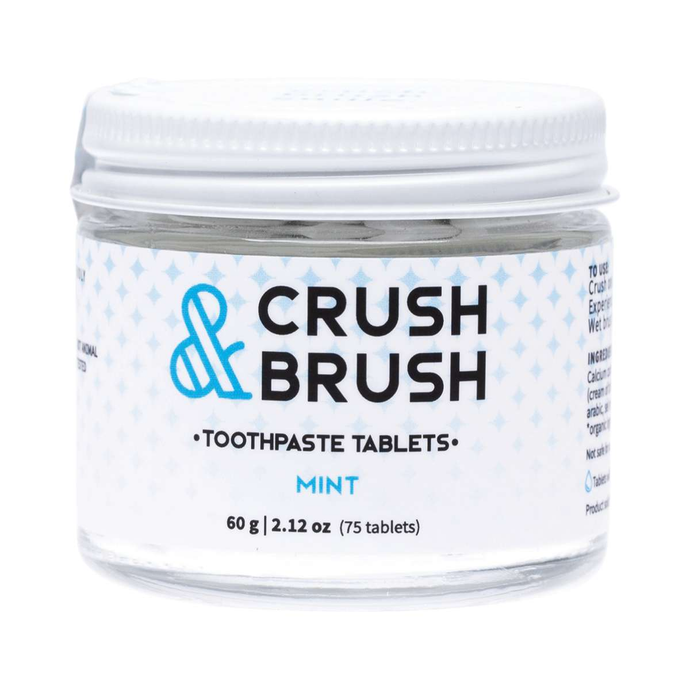 Nelson Naturals Crush & Brush Toothpaste Tablets - Mint 60g - GoodnessMe