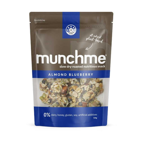 Think Food Munch Almond Blueberry 6x 120g