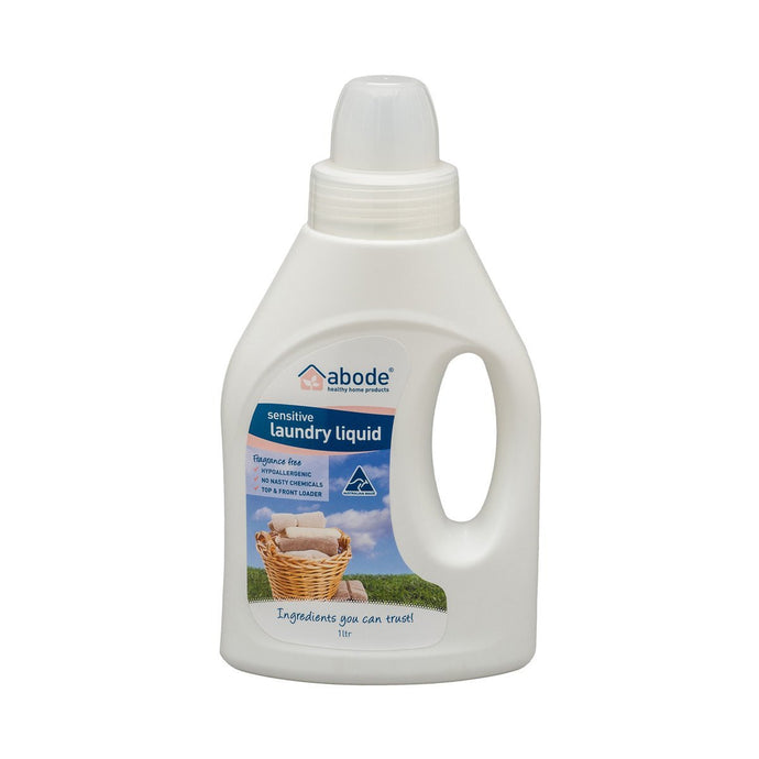 Abode Laundry Liquid Fragrance Free 1L - GoodnessMe