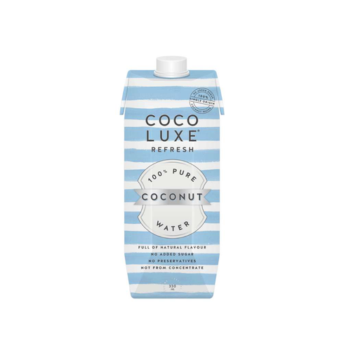 Coco Luxe Refresh 100% Pure Coconut Water 330mL - GoodnessMe