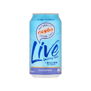 Nexba Beverage Co Live Sparkling Water Passionfruit 4x 375mL