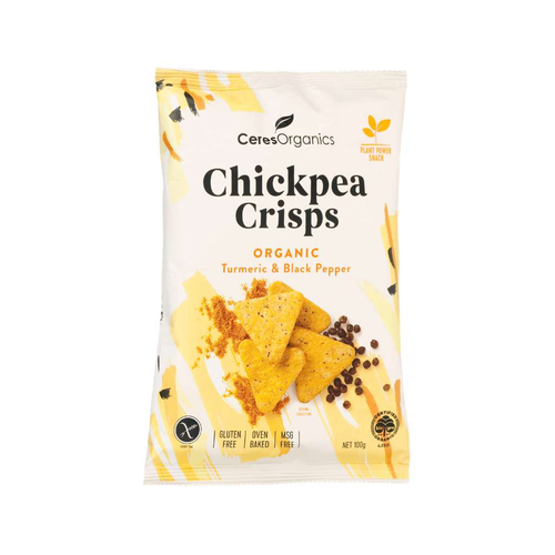 Ceres Organics Organic Chickpea Crisps Turmeric & Black Pepper - GoodnessMe