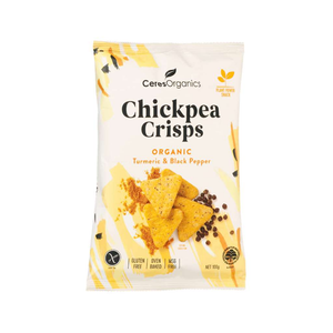 Ceres Organics Organic Chickpea Crisps Turmeric & Black Pepper