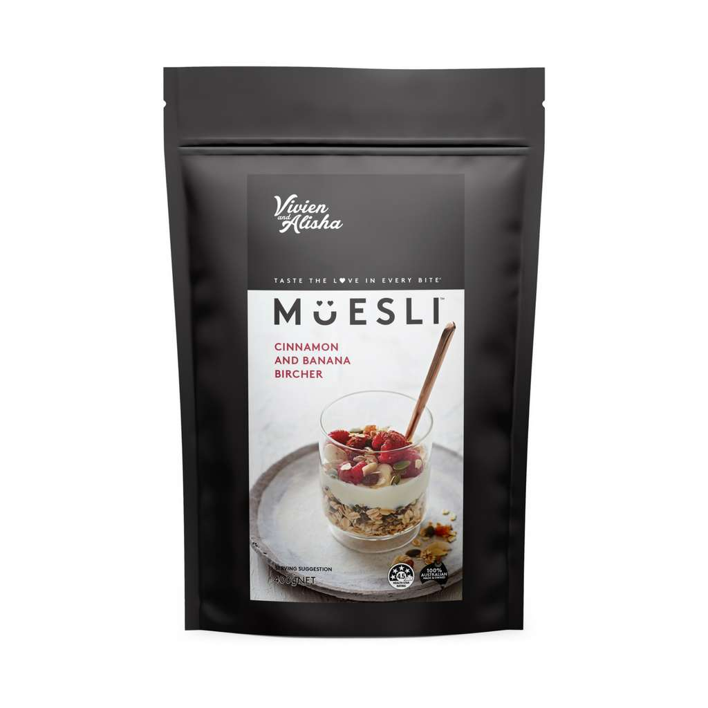 Vivien and Alisha - Cinnamon and Banana Bircher Muesli 50g