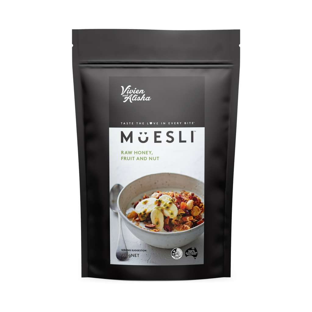 Vivien and Alisha - Raw Honey, Fruit and Nut Muesli 50g