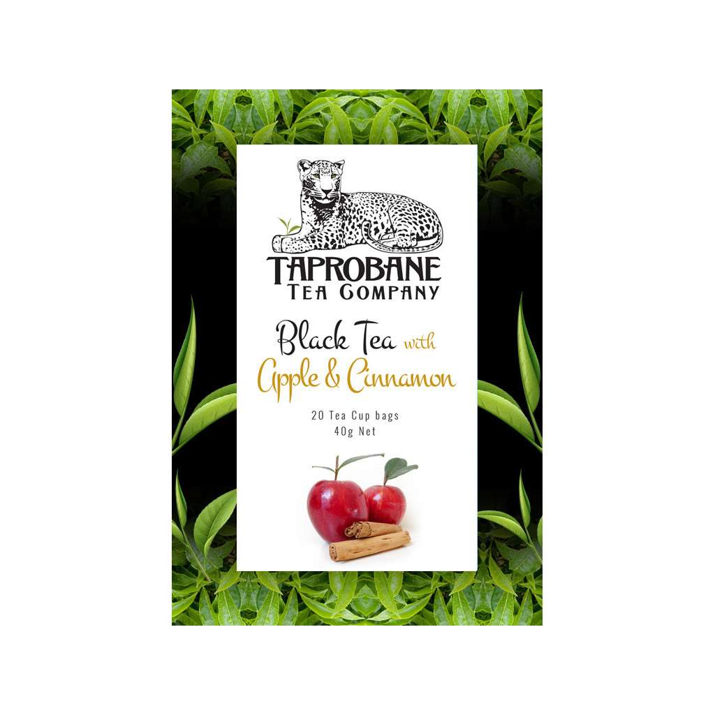 Taprobane Tea Company Black Tea With Apple & Cinnamon Bundle 10 x 40g Boxes