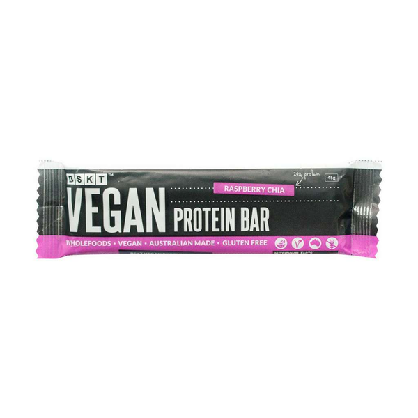 BSKT Wholefoods - Raspberry Chia Protein Bar 40g