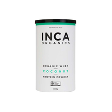 Load image into Gallery viewer, Inca Organics Certified Organic Whey + Coconut Protein Powder 400g