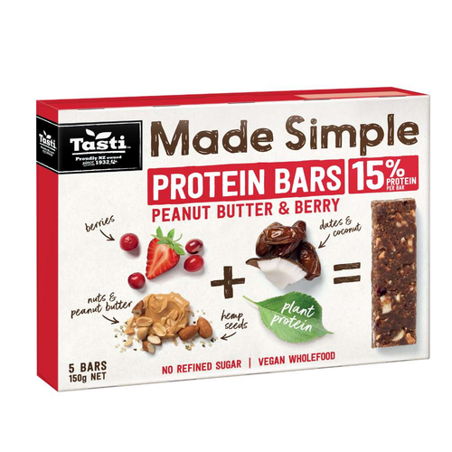 Tasti Products	Made Simple Protein Peanut Butter & Berry