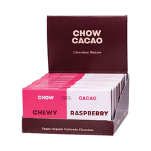 Load image into Gallery viewer, Chow Cacao Vegan Organic Chocolate	Chewy Raspberry15x 40g