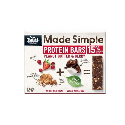 Tasti Products	Made Simple Protein Peanut Butter & Berry - GoodnessMe