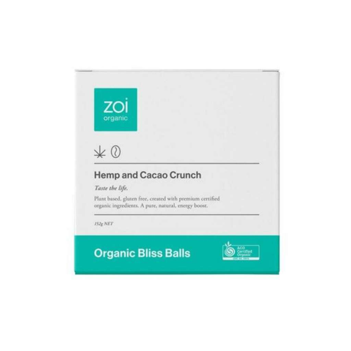 Zoi Organic Hemp and Cacao bliss balls - GoodnessMe